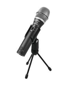 Omnitronic M-80 Microfono Dinamico anche USB uscita sia XLR che min USB prof.