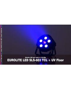 SLS603 eurolite spot a led 6x3 watts RGB+UV dmx